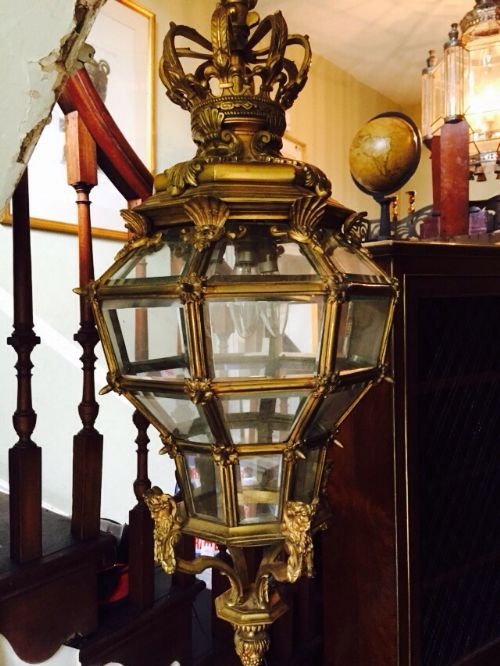 early c20th giltbronze octagonal hall lantern of versailles design