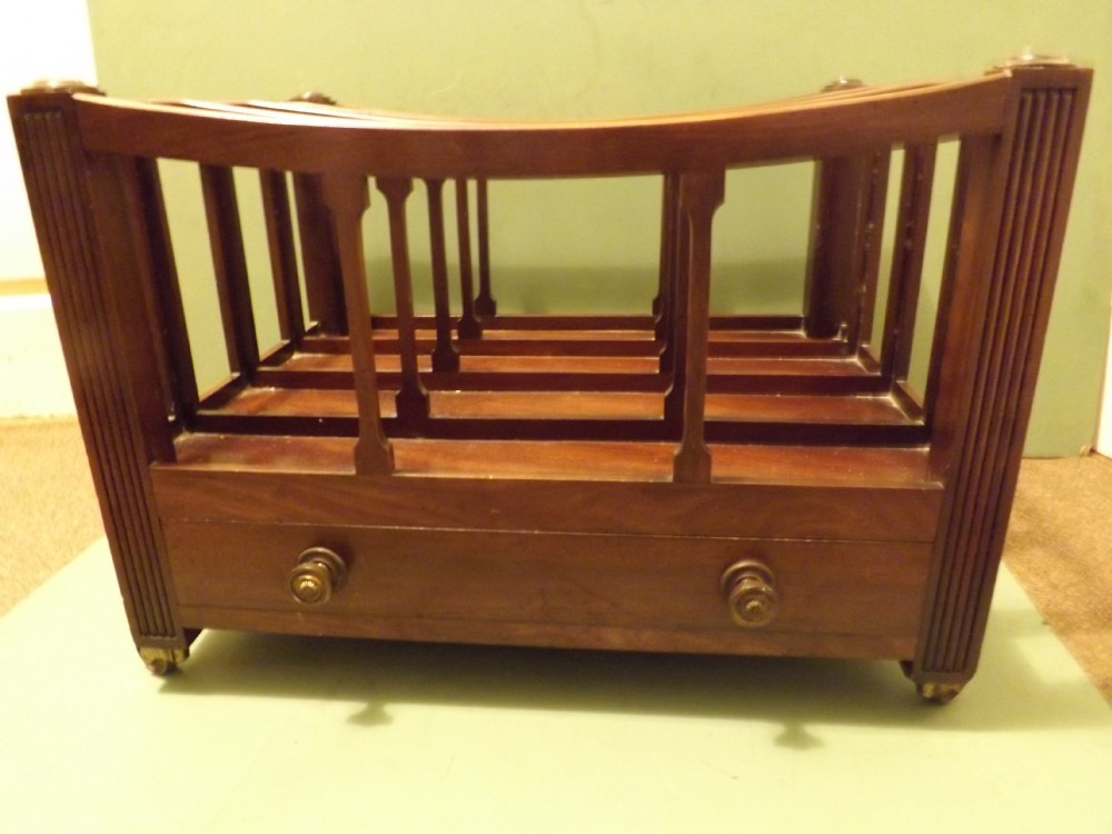 early c19th george iii period mahogany canterbury of exceptional size and quality