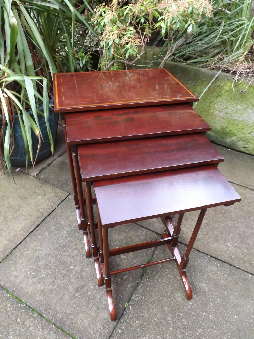 late c19thearly c20th edwardian period quartetto of mahogany occasionalnesting tables