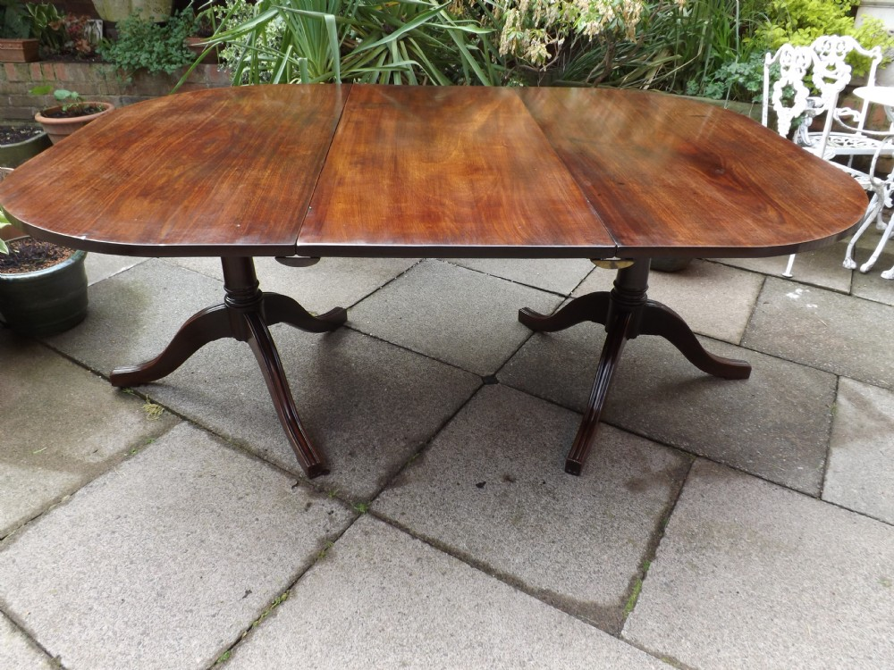 late c18th george iii period mahogany twinpillar dining table