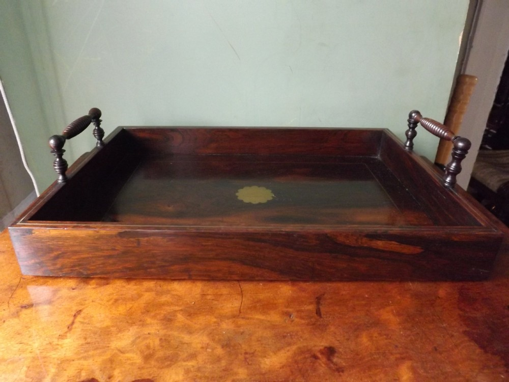 early c19th regency period brassinlaid rosewood desktop correspondence traybookcarrier
