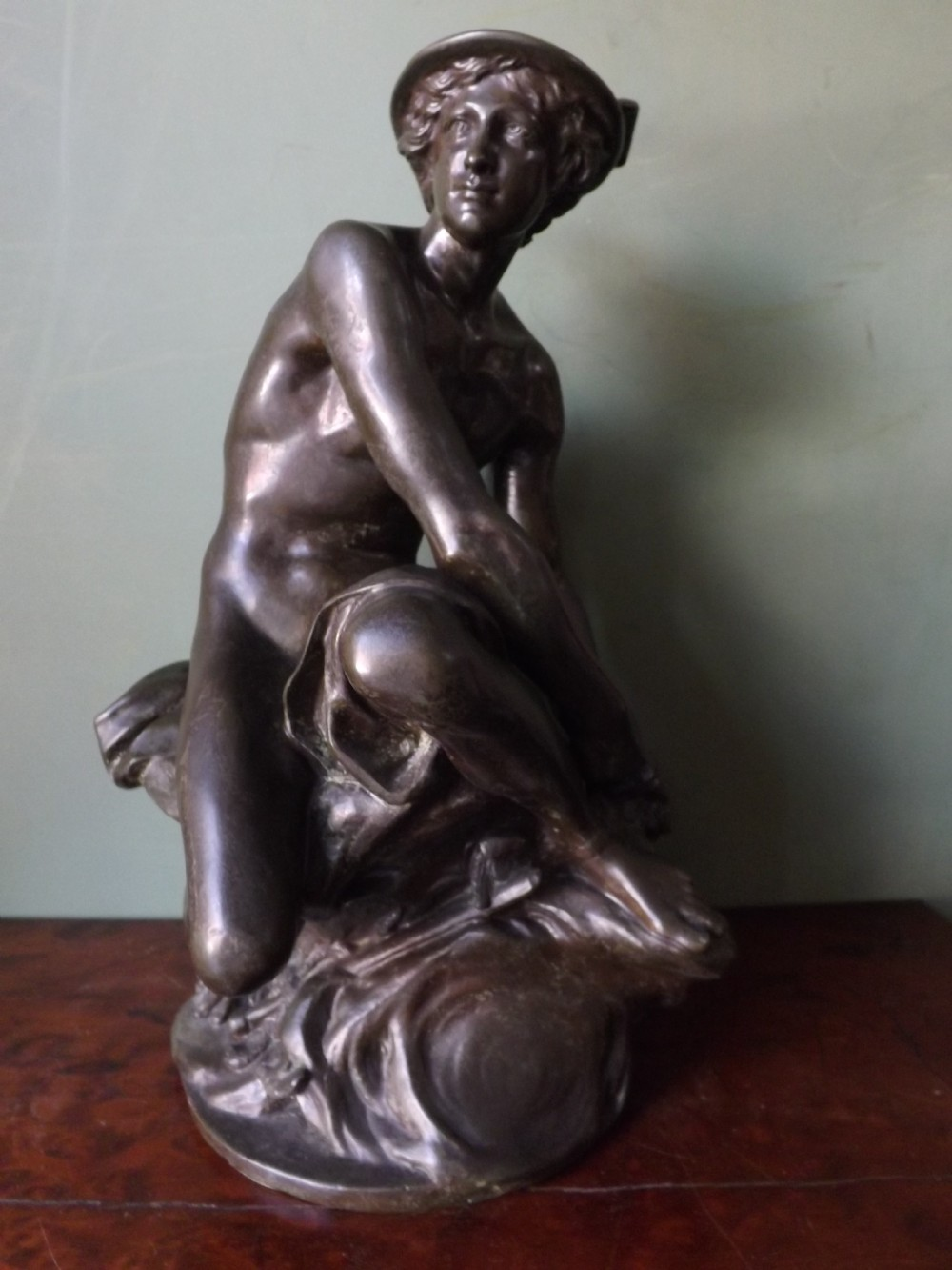 c19th french bronze statue of mercury after jeanbaptiste pigalle