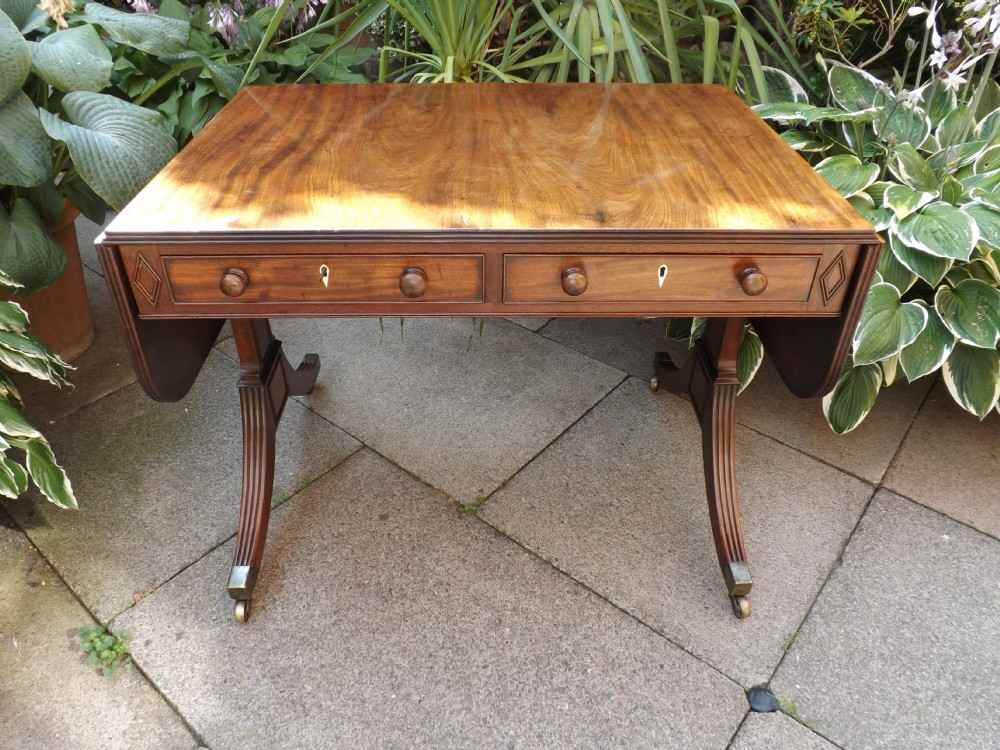 early c19th late george iii period mahogany sofa table
