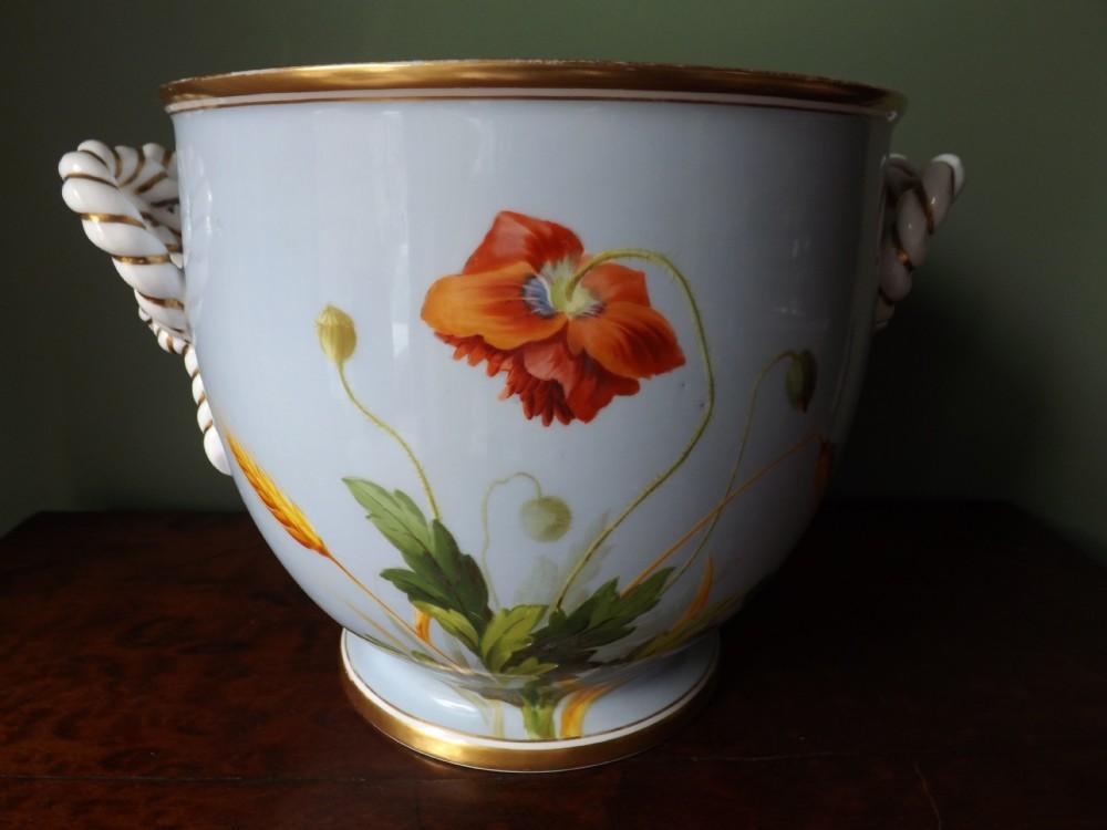 mid c19th english porcelain jardinire or 'cachepot'
