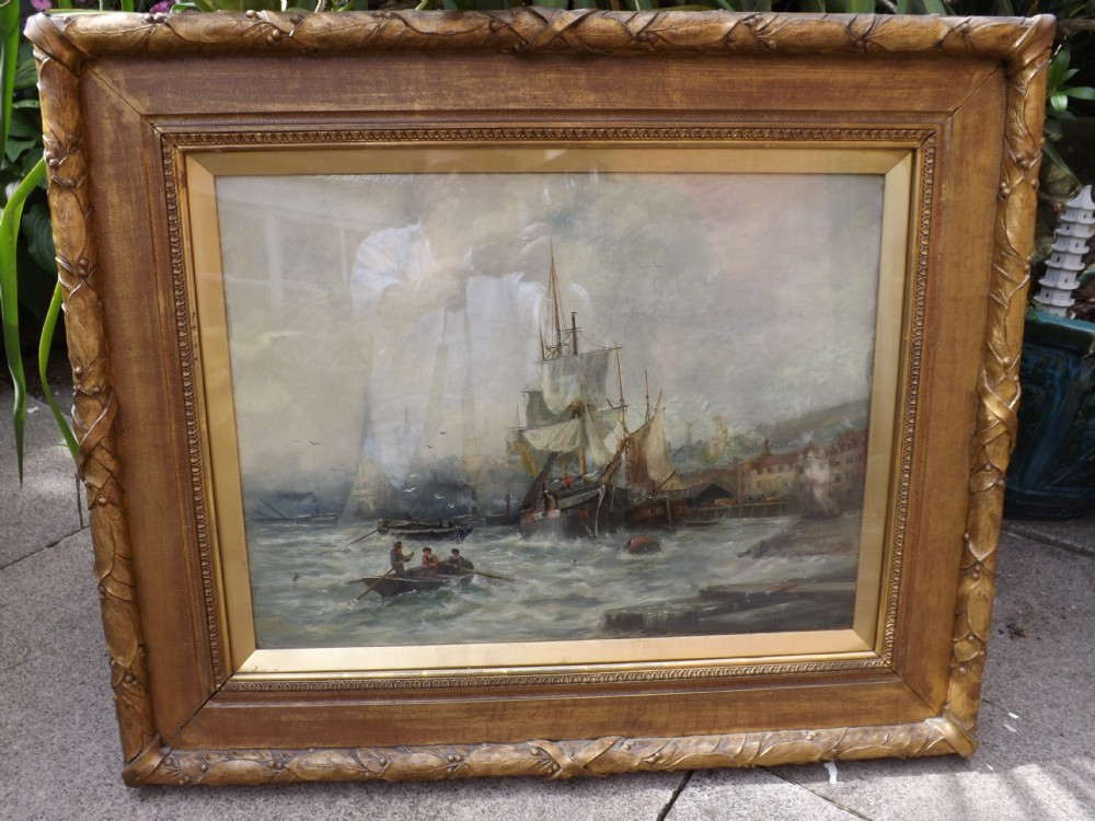c19th oil painting on panel by stephen brownlow