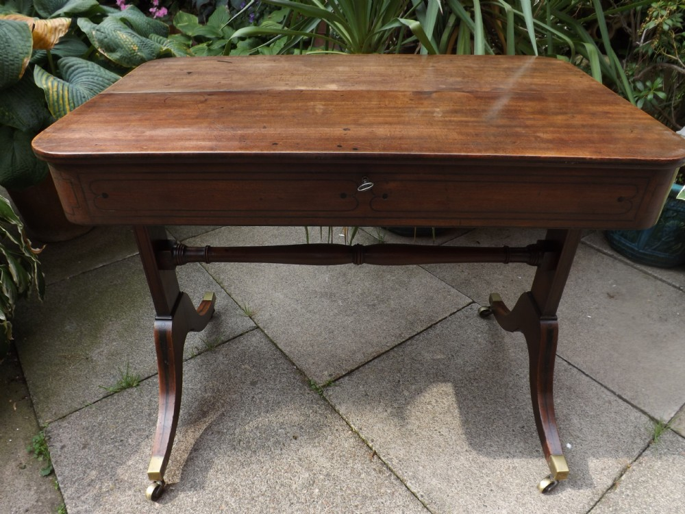c19th regency period mahogany 'metamorphic' writing table