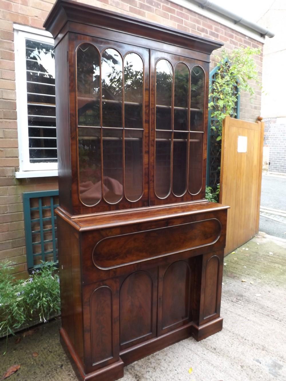 c19th william iv period mahogany library bookcase