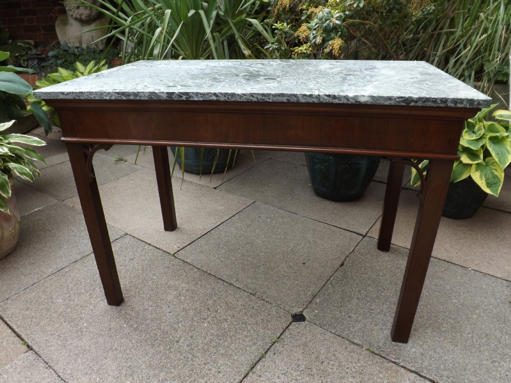 c18th george iii chippendale period and design mahogany centrepier table with marble top