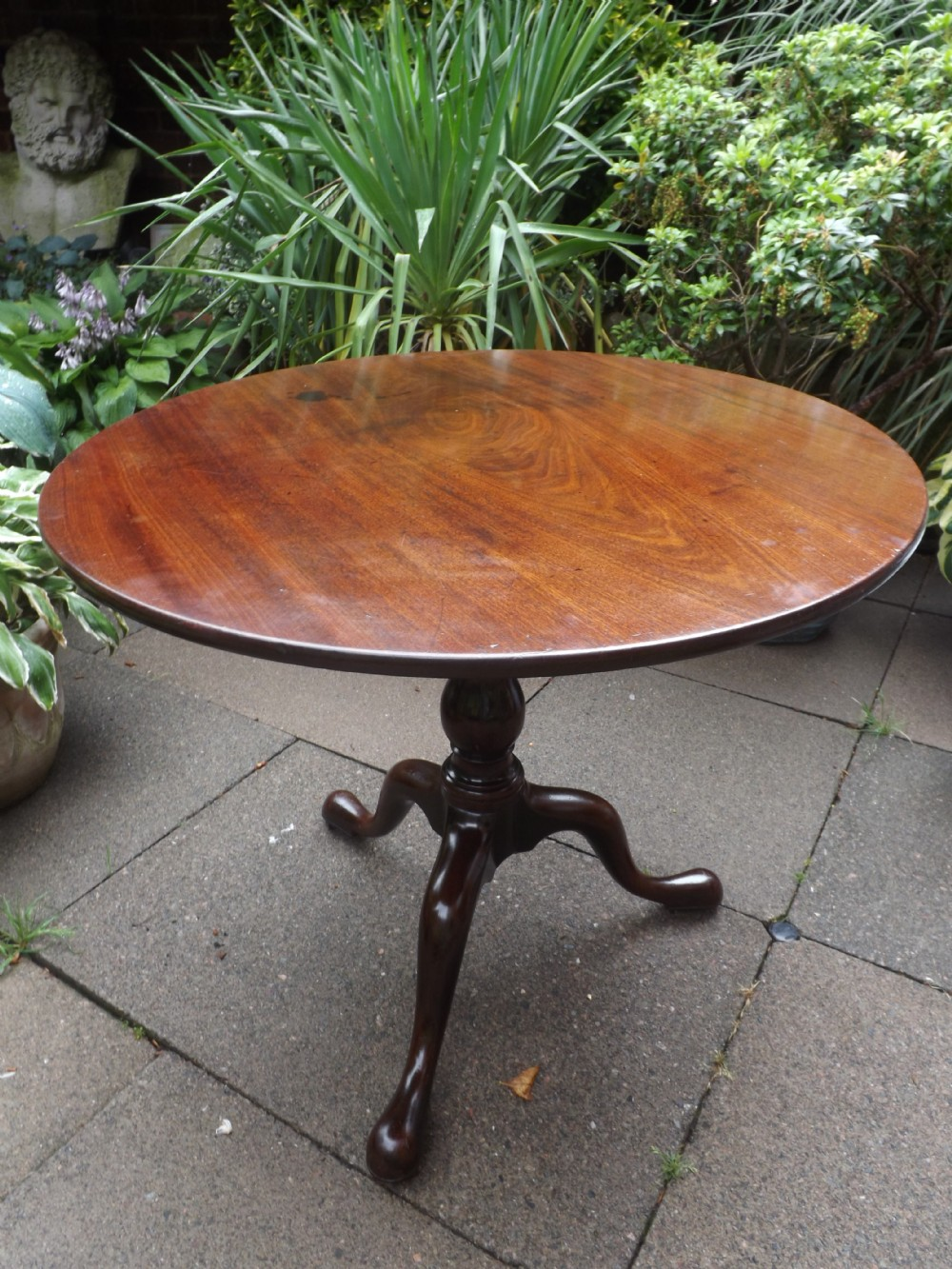 c18th george iii period mahogany tripod base tip top tea or supper table