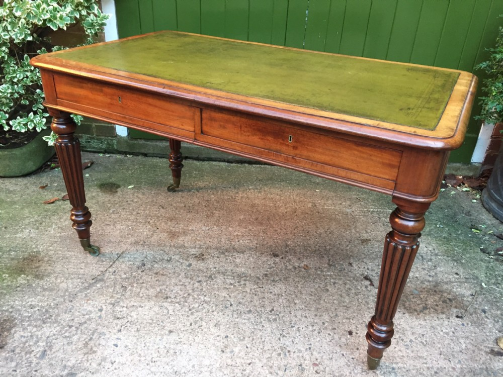 early c19th george iv period mahogany 2 drawer writinglibrary table in the manner of gillows of lancaster