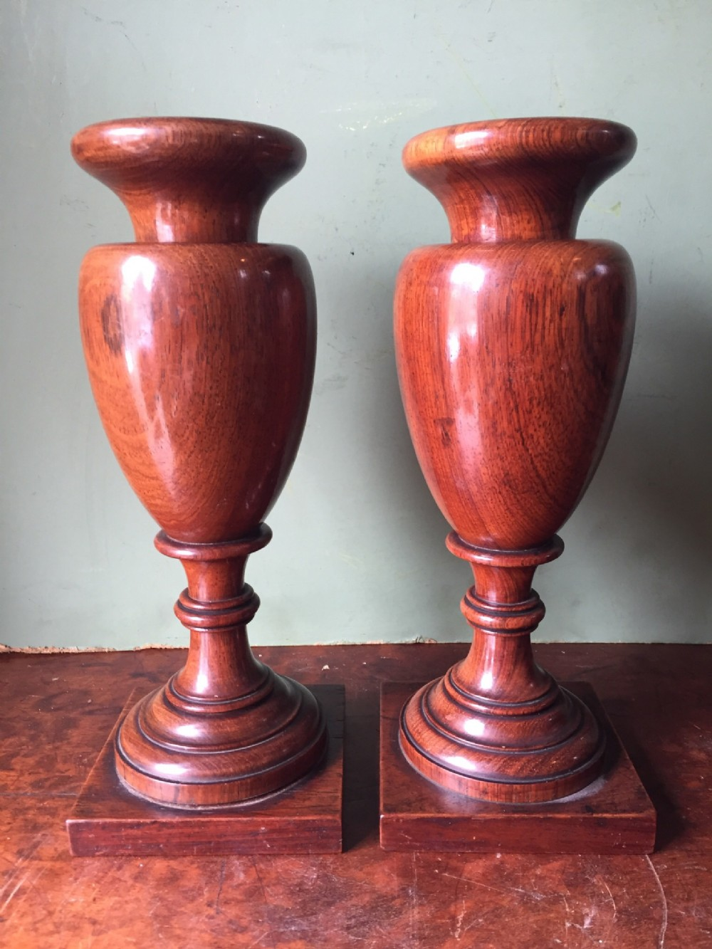 Pair or early c19th george iv period turned ornamental rosewood pair or early c19th george iv period turned ornamental rosewood vases reviewsmspy