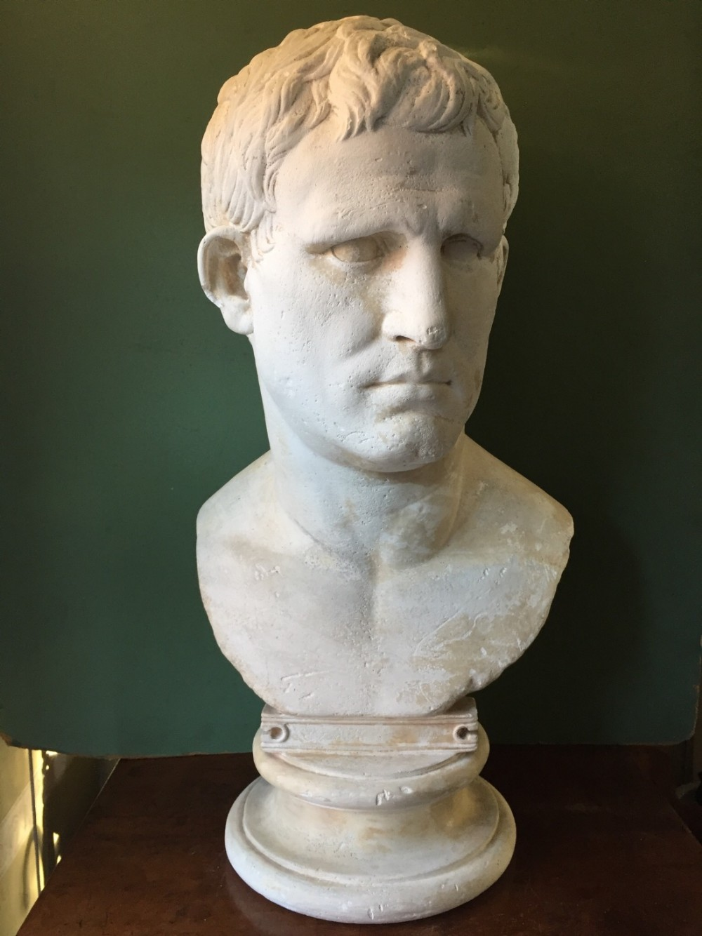 Early C20th French Plaster Library Bust Of Marcus