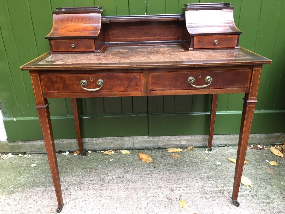 late c19th early c20th edwardian period mahogany ladies' writing table or 'bonheur du jour' style desk