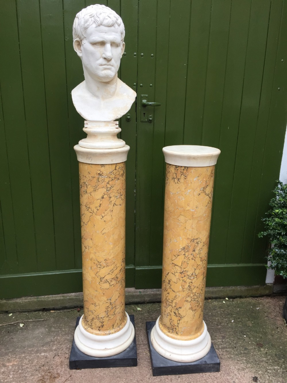pair of early c19th regency period scagliola columns