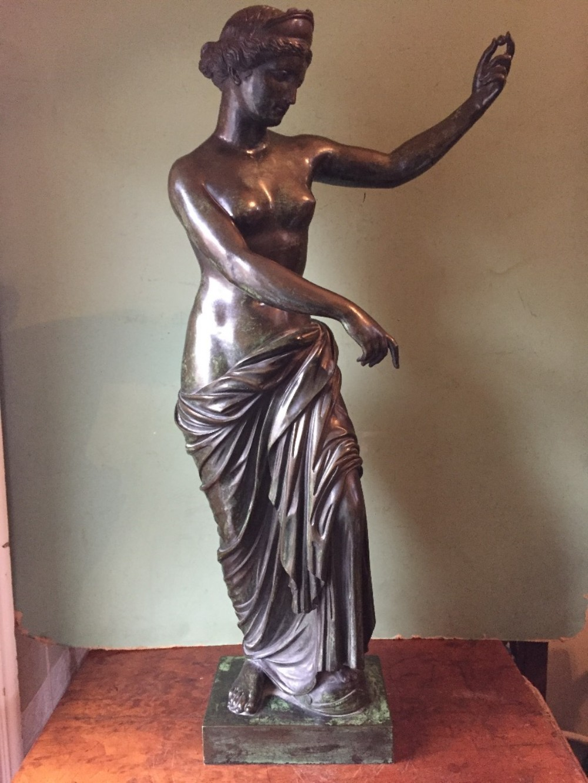 large c19th italian bronze 'grand tour' souvenir statue after the antique of venus of capua