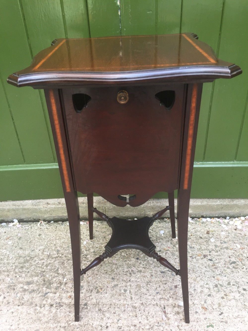 unusual late c19thearly c20th edwardian period satinwood crossbanded mahogany drinks tea or jardiniere table