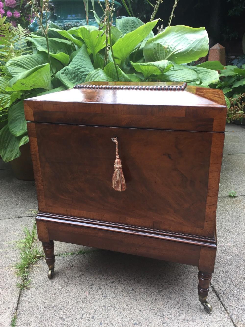 fine quality early c19th regency period mahogany cellarette