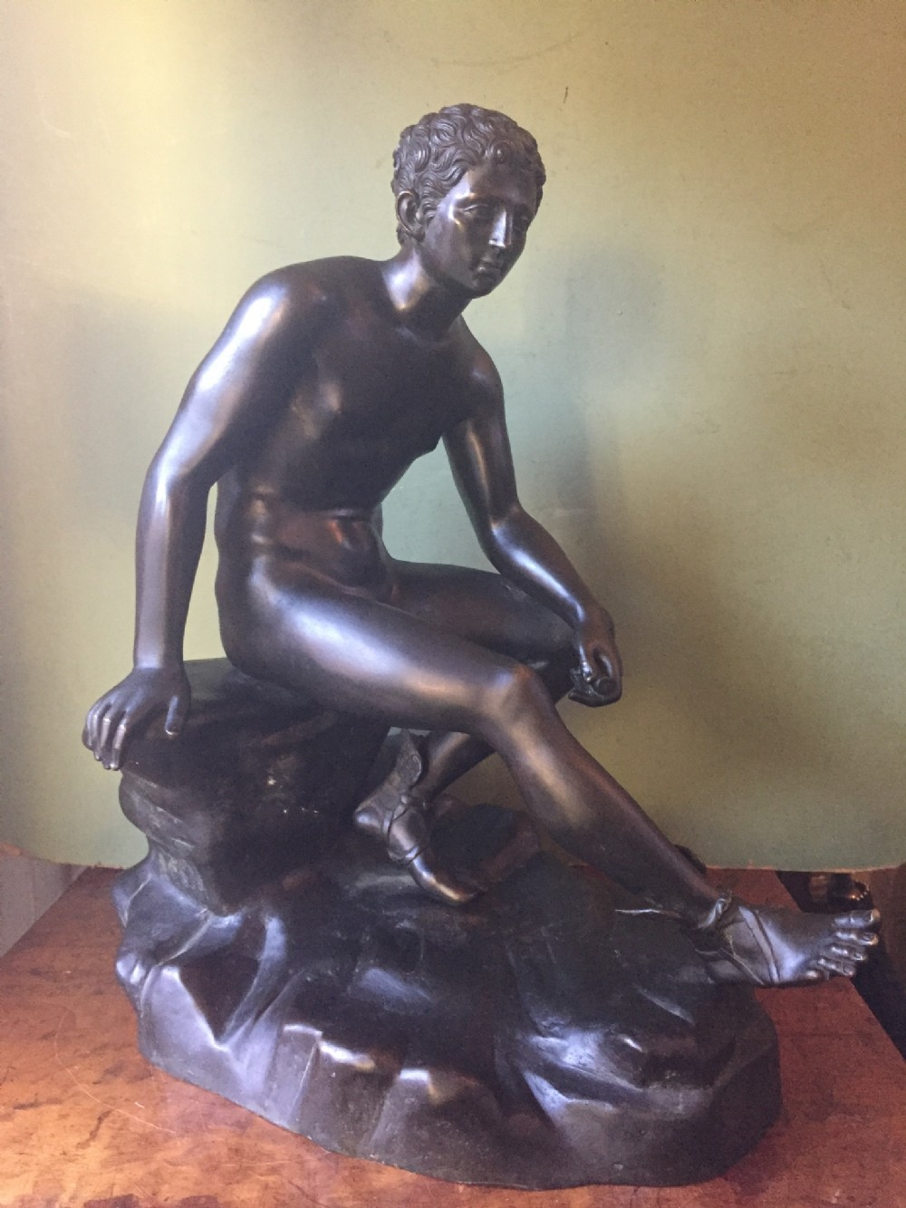 late c19th italian 'grand tour' souvenir bronze reduction after the antique by sommer foundry naples