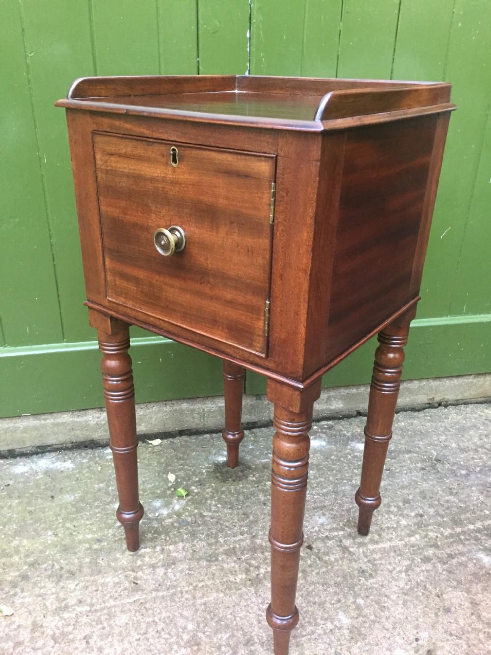 early c19th george iv period mahogany bedside cupboard