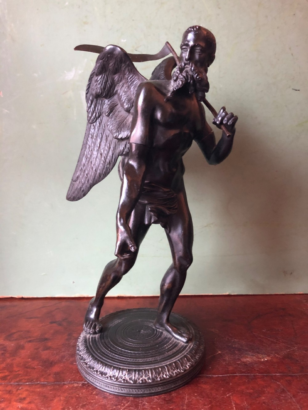 early c19th italian bronze sculpture of the greek god cronos known to the romans as saturn