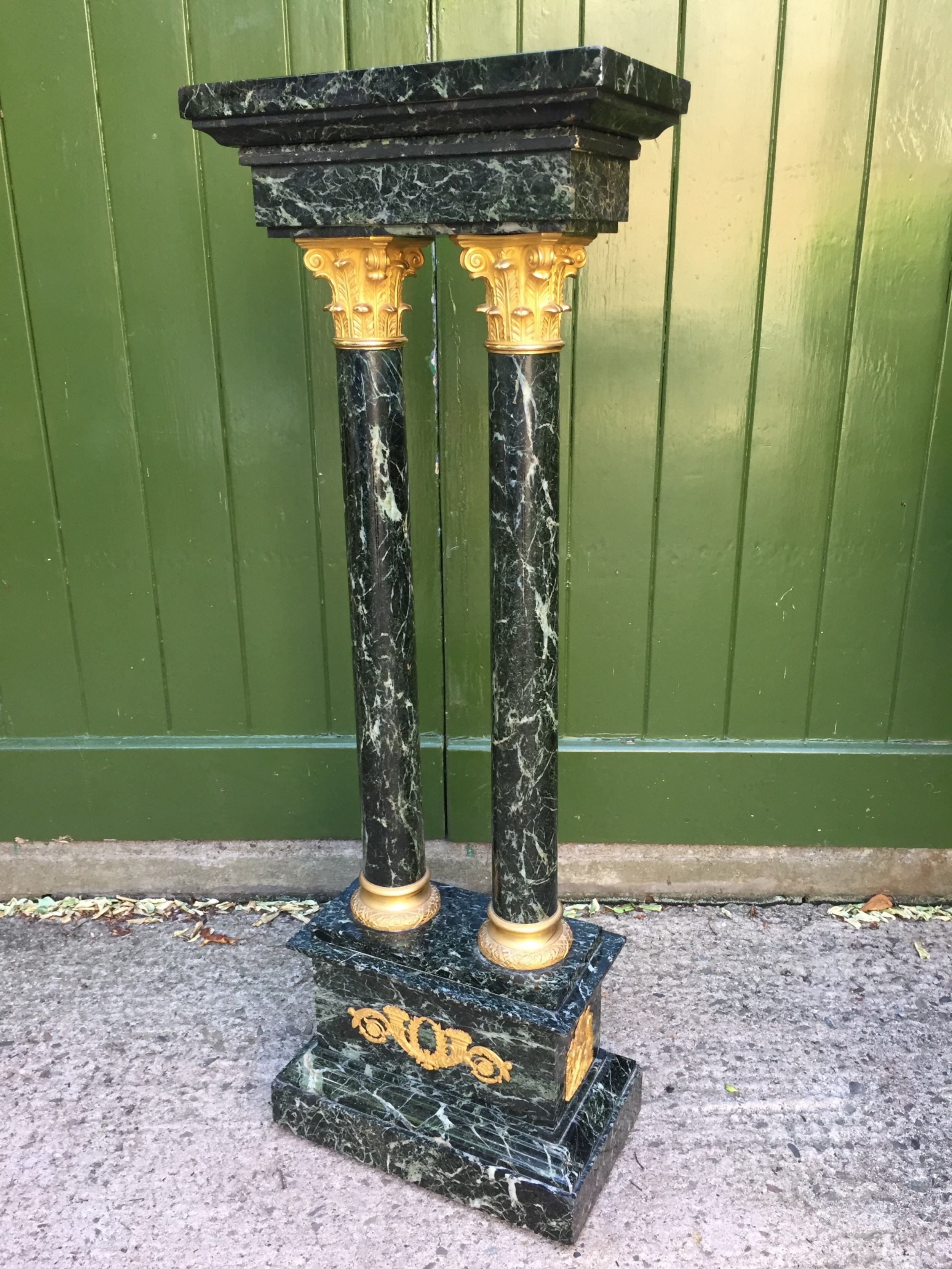 Early C20Th French Empire Style Marble And Ormolumounted Sculpture Stand