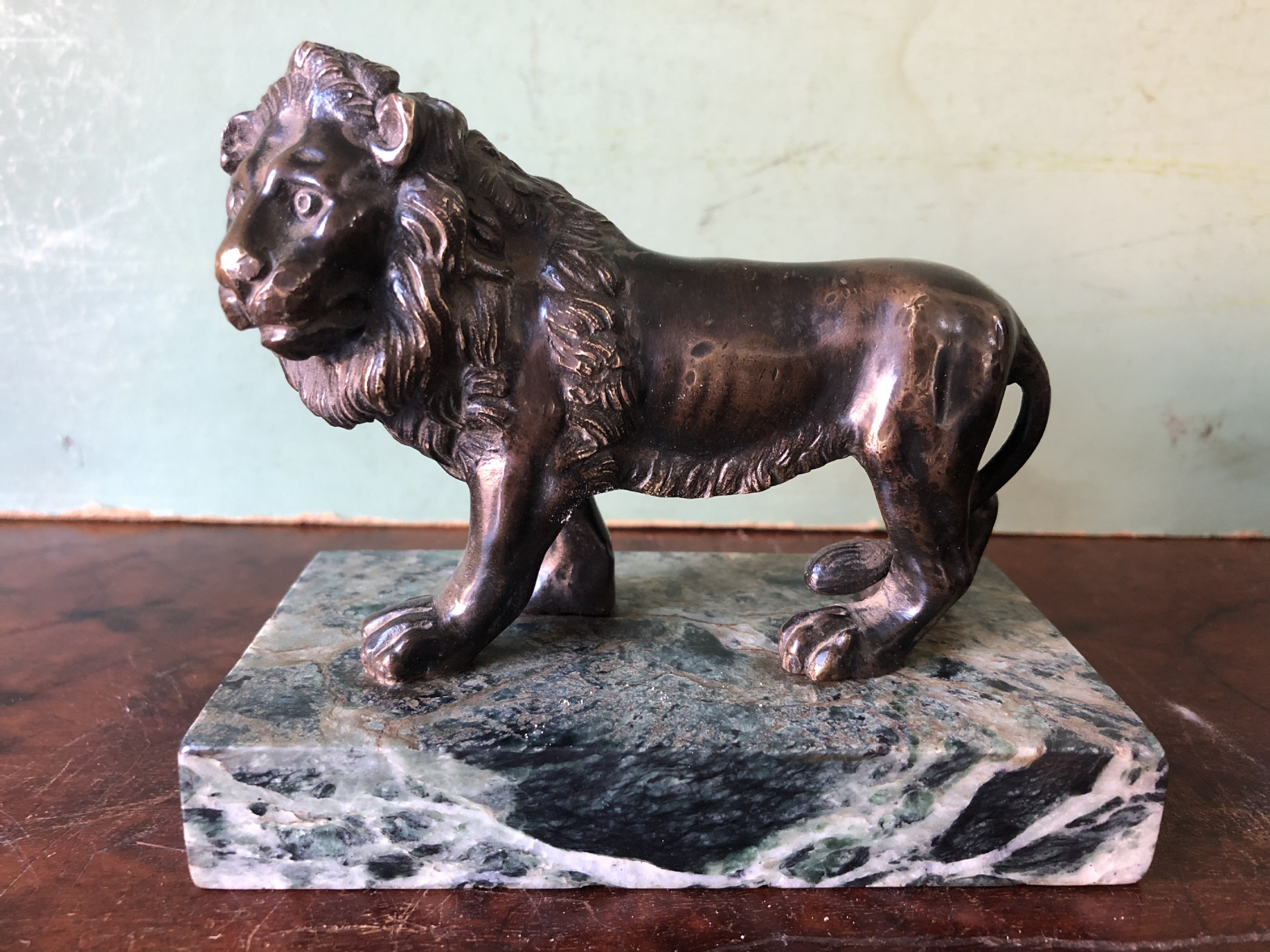 late c18thearly c19th italian bronze study of a pacing lion after giambologna