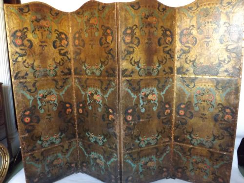 late c18thearly c19th dutch leather draught screen