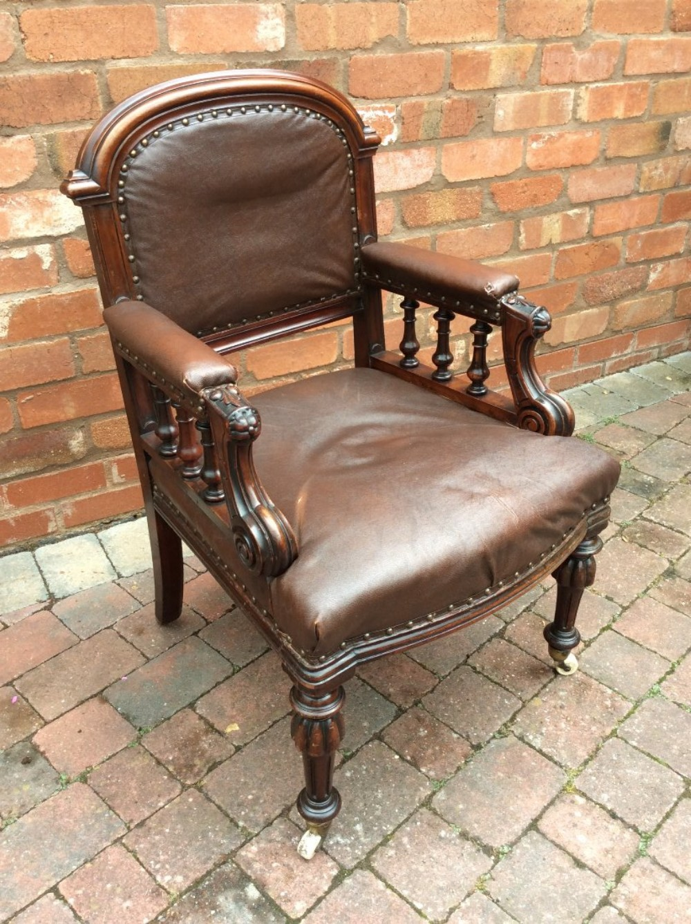 early 19thc library chair