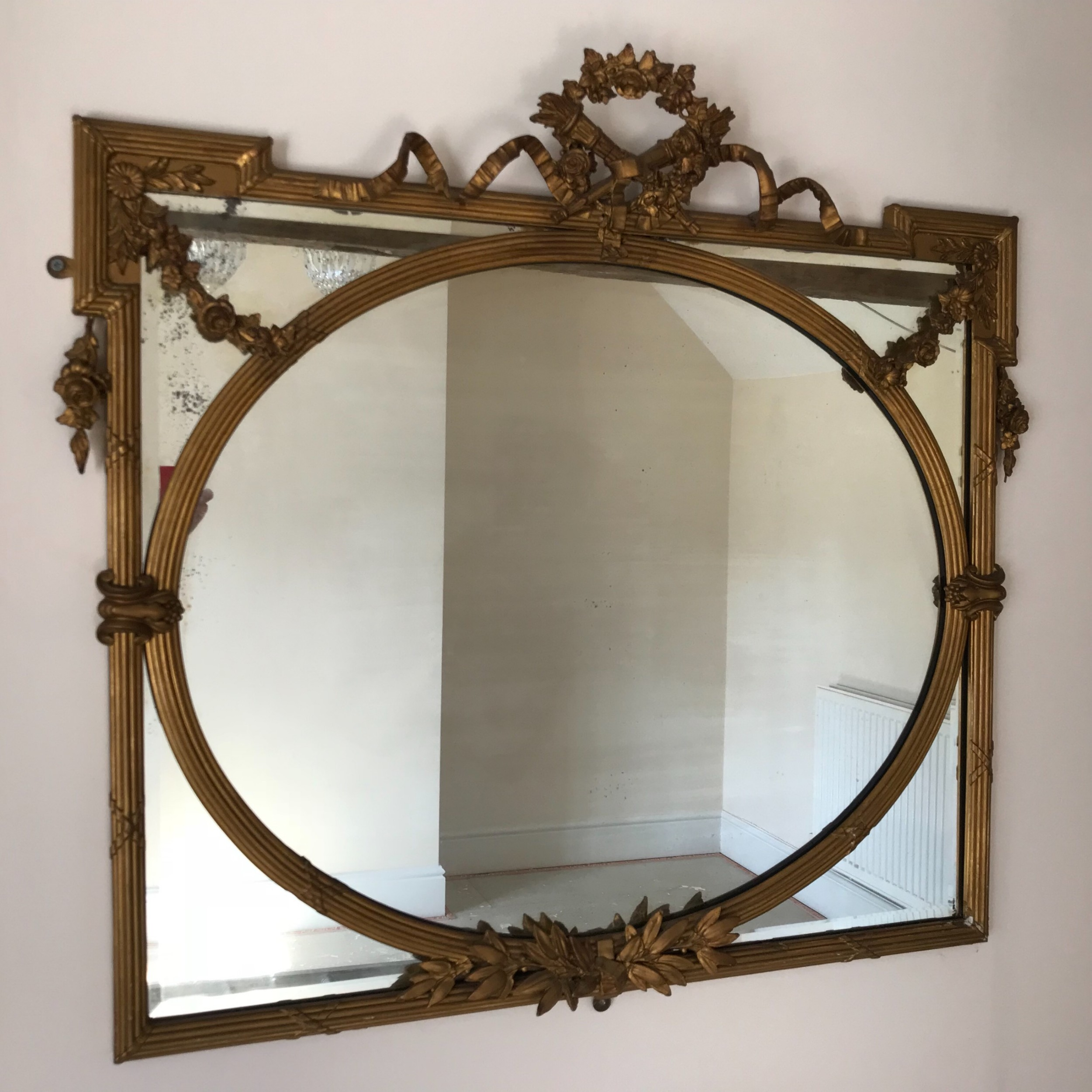 a large early 19thc giltwood mirror