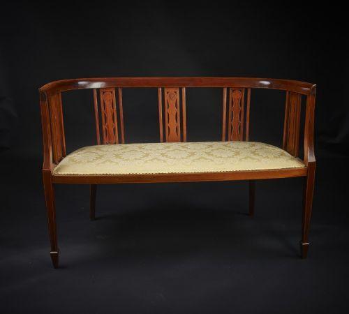 edwardian mahogany settee