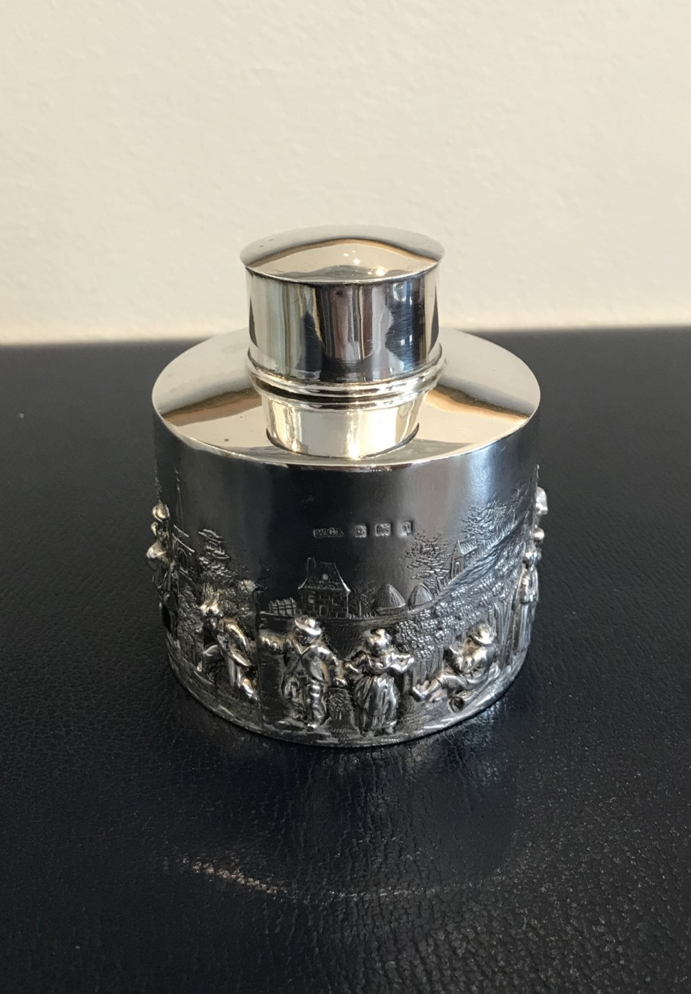 quality edwardian silver tea caddy 1908