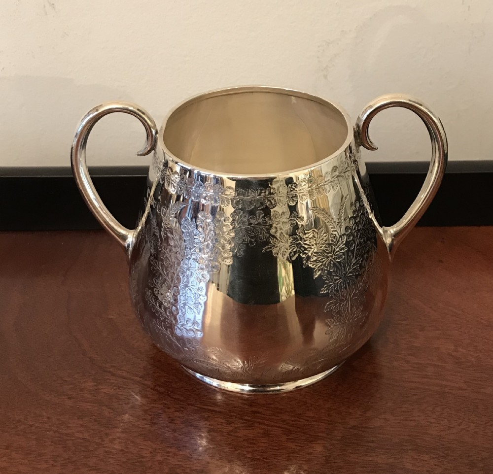 victorian silver twin handled bowl 1874