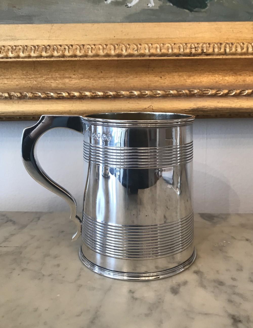 george iii silver glass bottom tankard by rebecca emes edward barnard i 1820