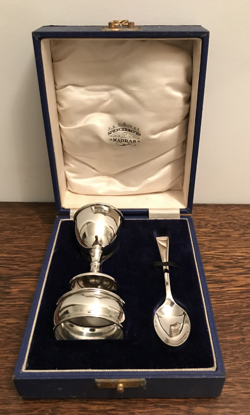 george v silver christening set by deakin francis