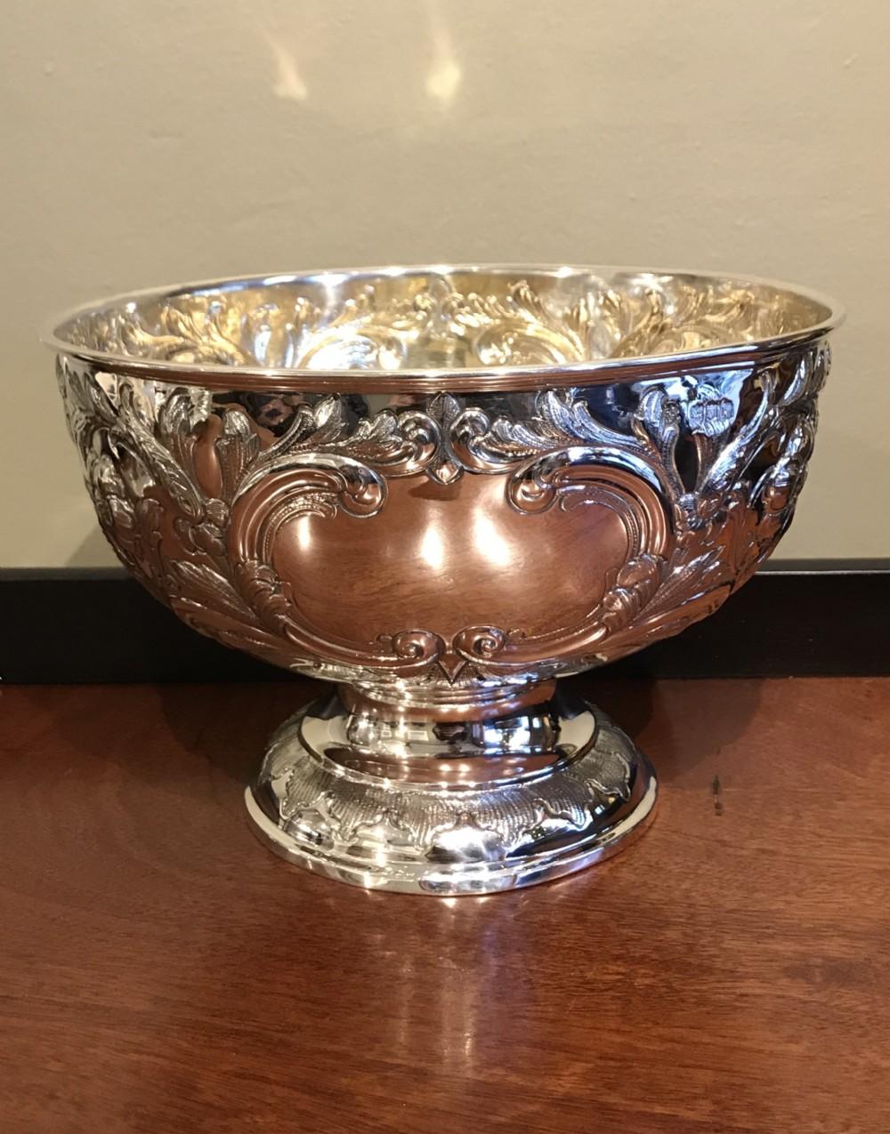 superb edwardian silver rose bowl