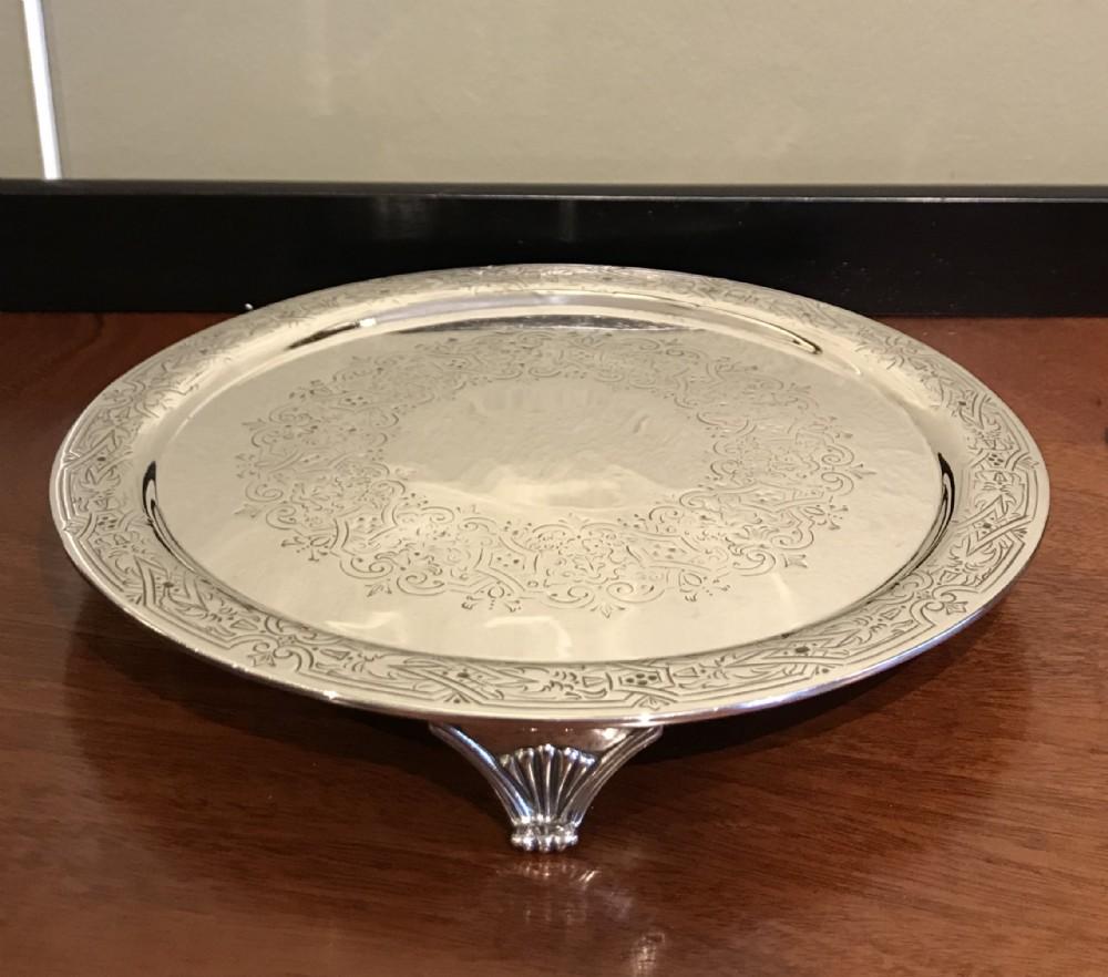 stunning victorian silver salver