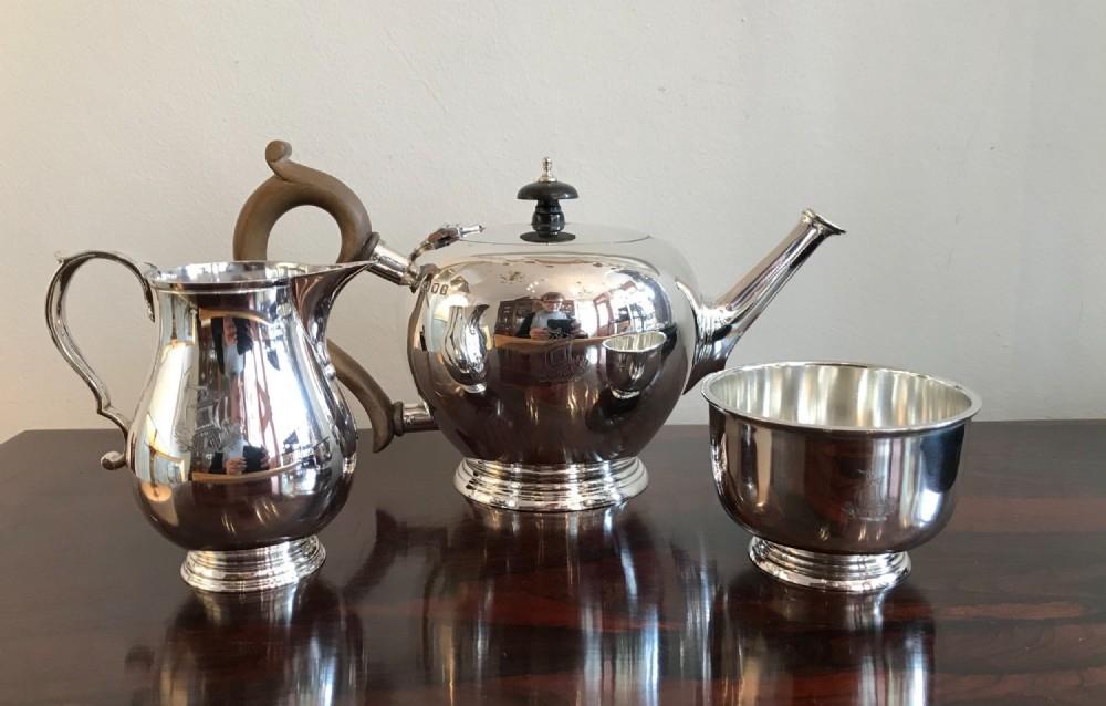 solid silver mappin webb tea service
