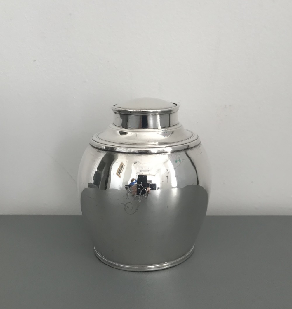 george iii old sheffield plate tea caddy
