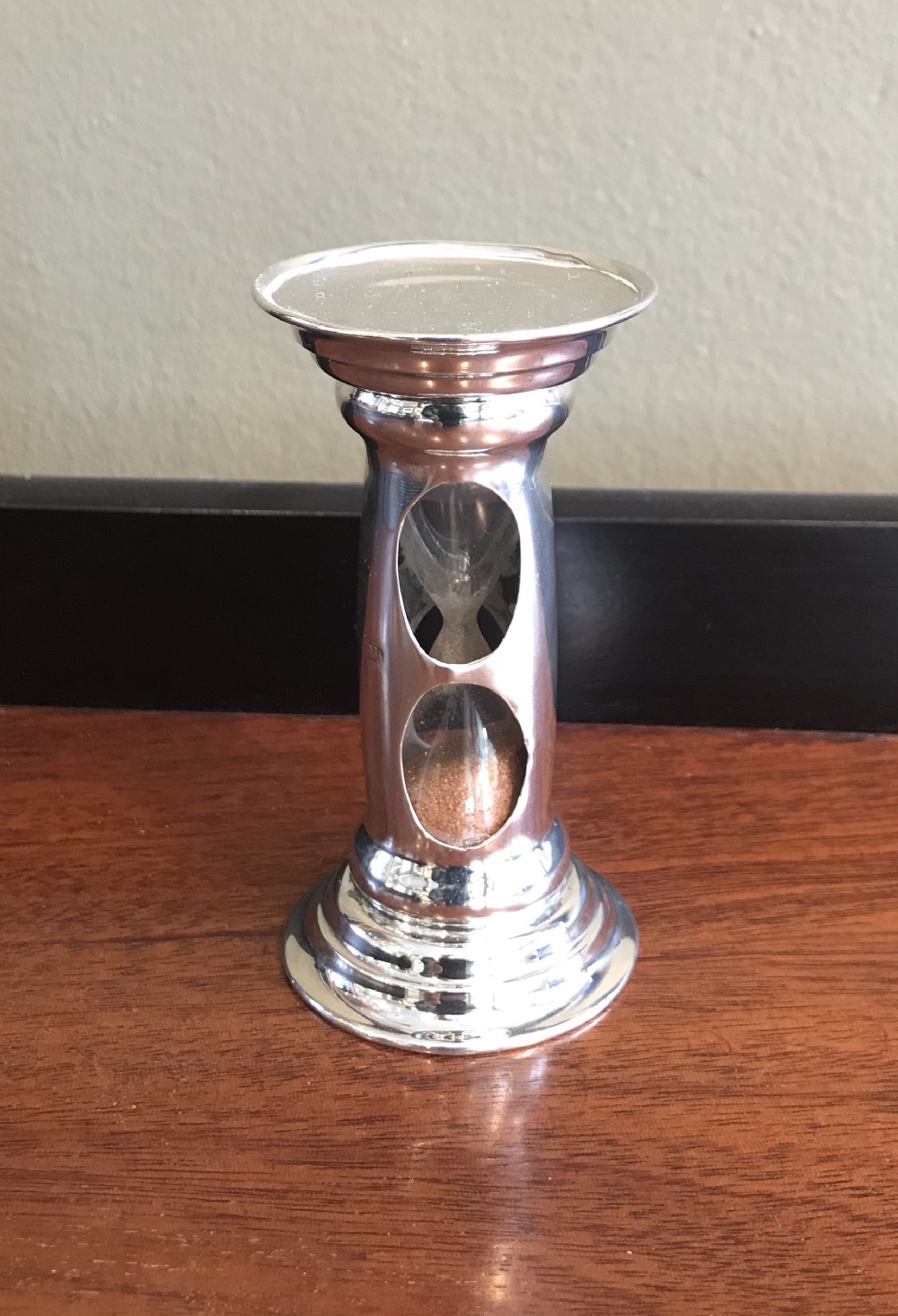 edwardian silver egg timer by george unite 1903