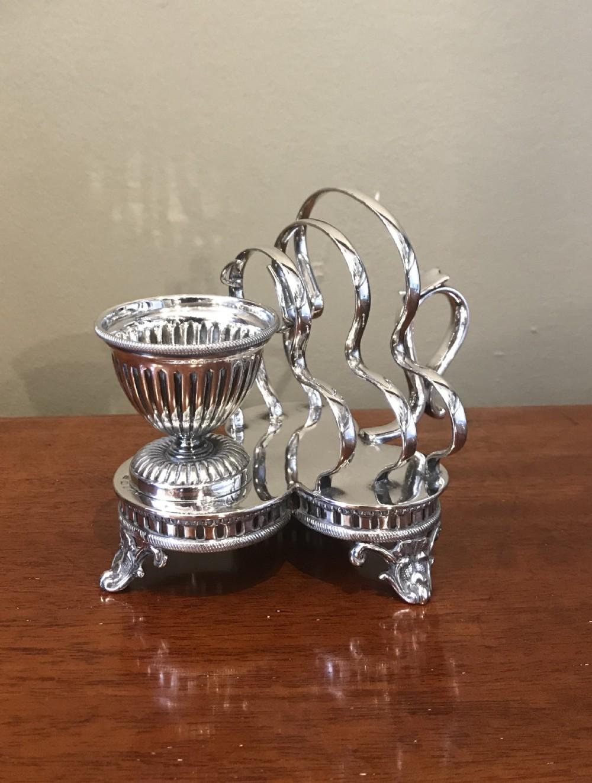 quality victorian silver plated breakfast cruet
