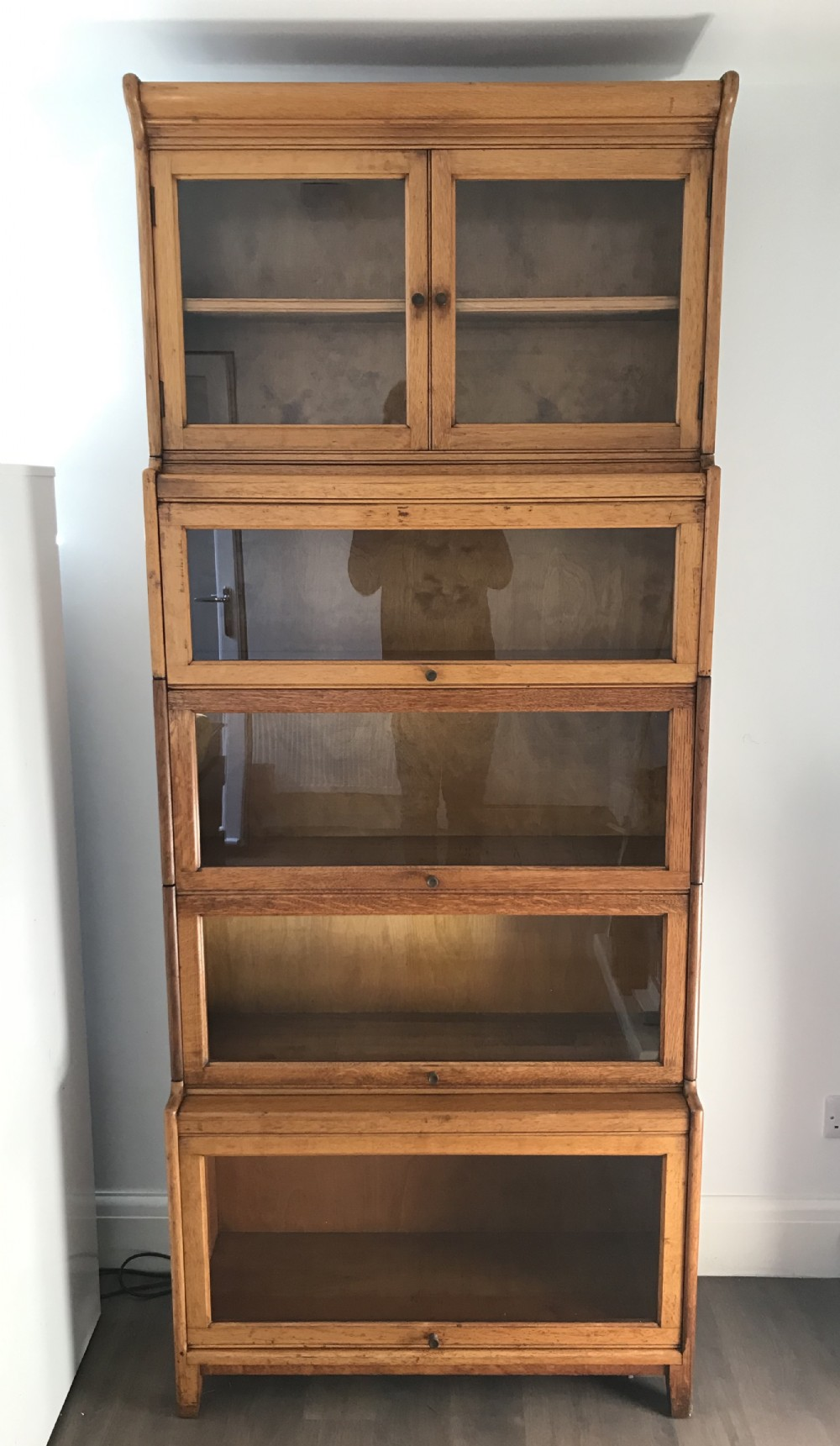 oak stacking sectional bookcase by gunn