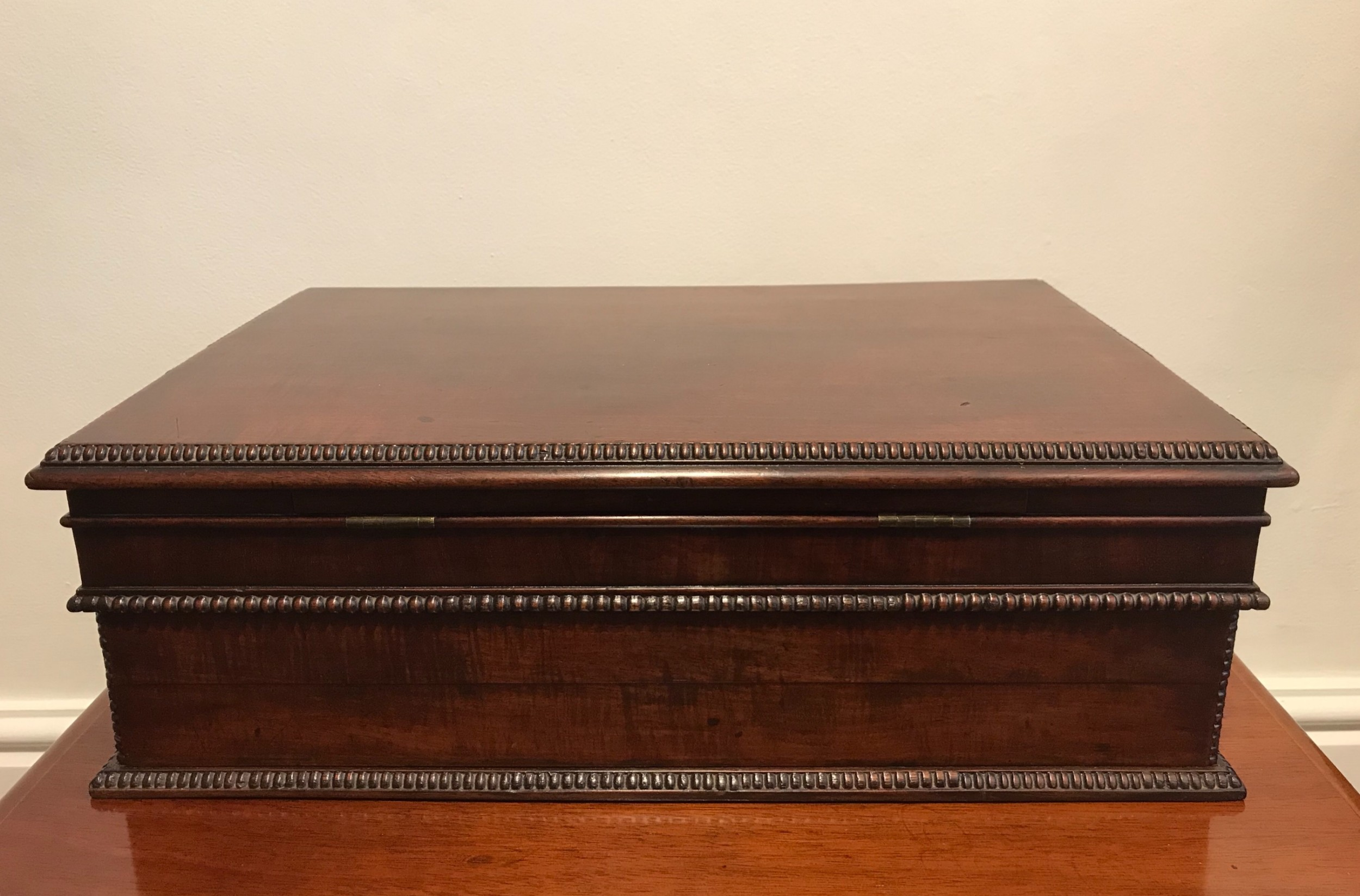 regency mahogany writing slope