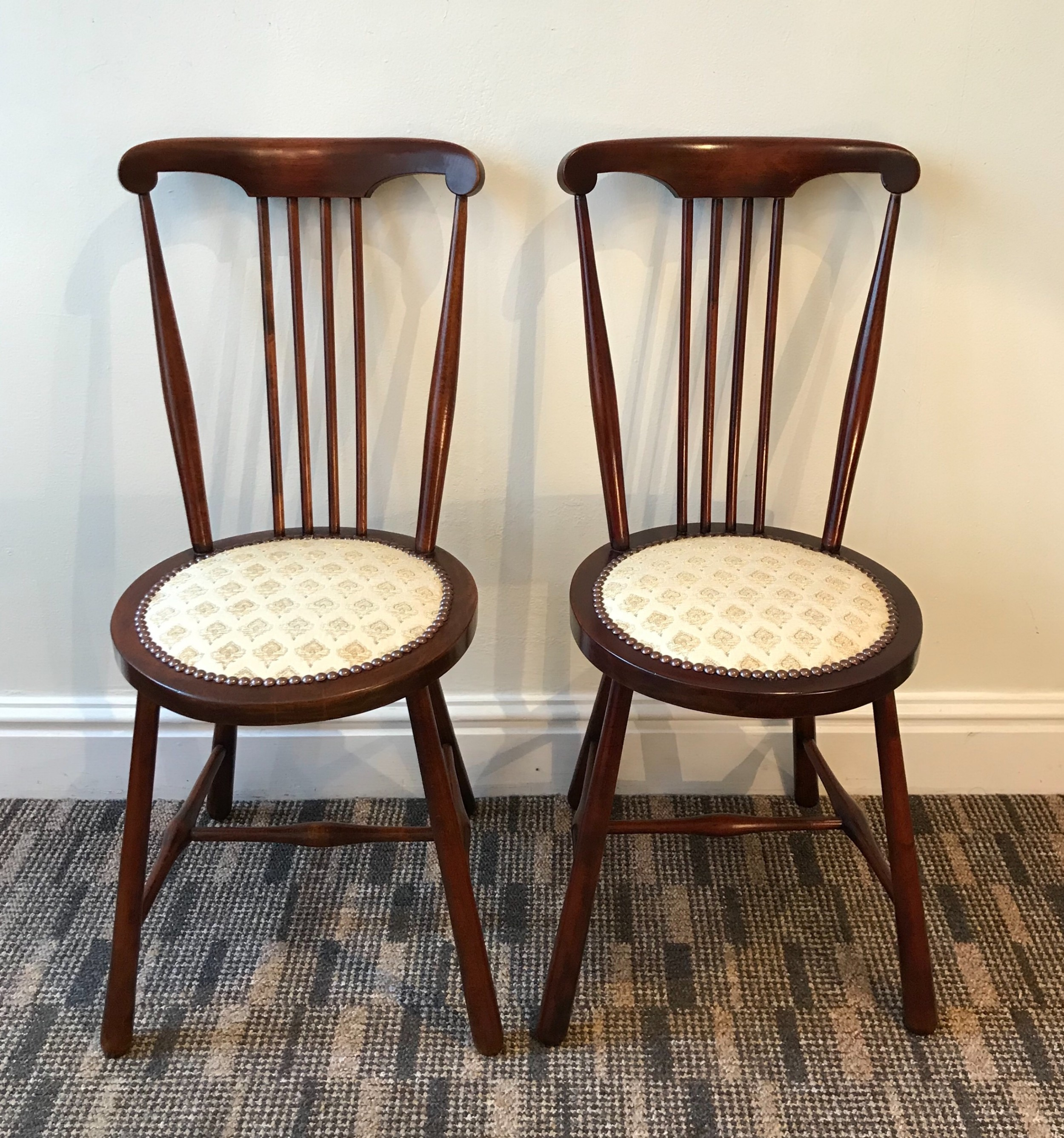 pair victorian bedroom chairs