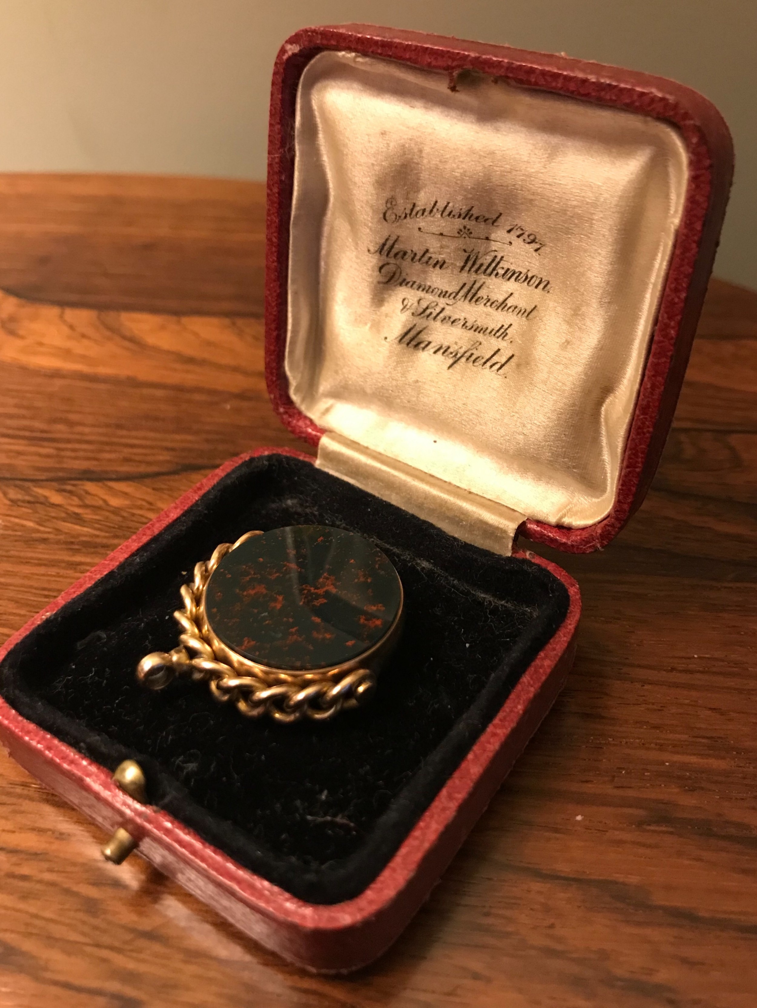 victorian 9ct gold fob chester 1892
