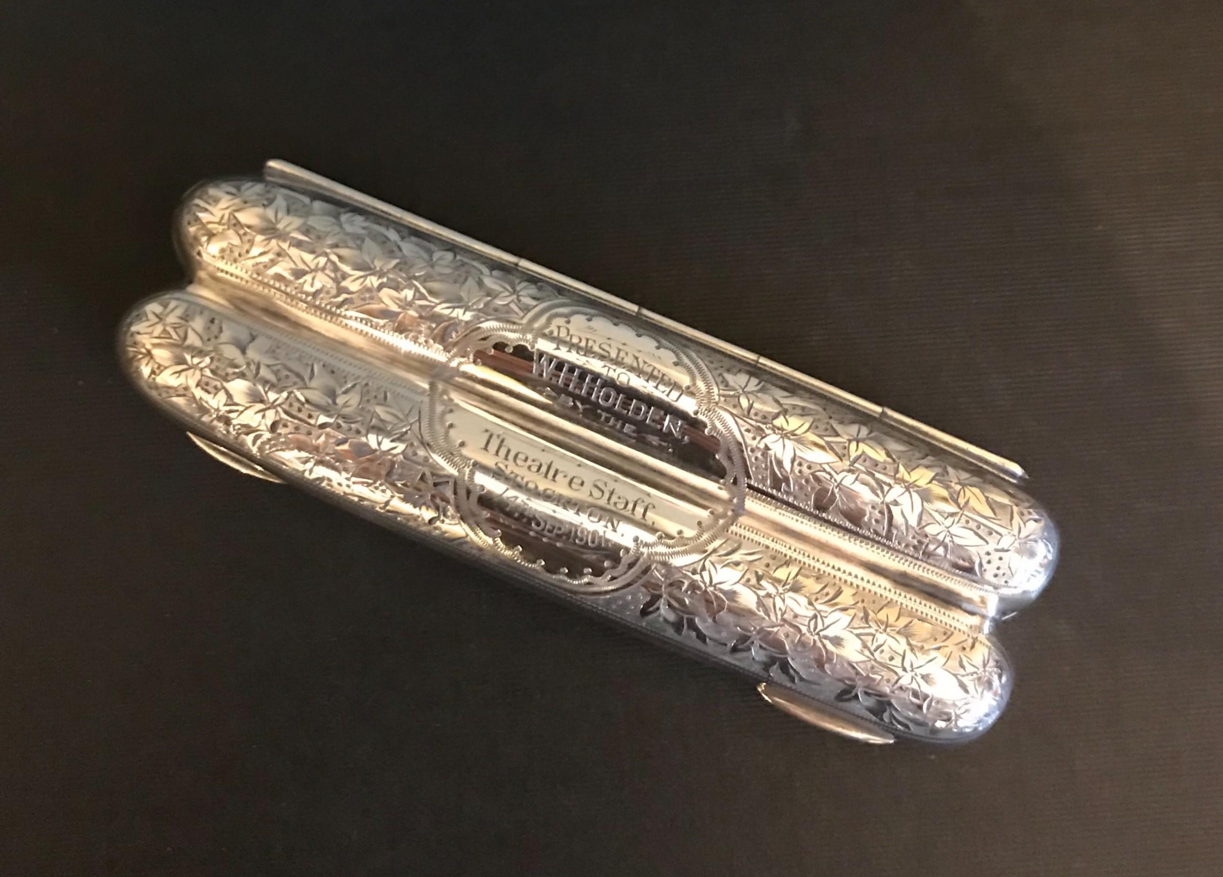 super quality victorian silver cigar case
