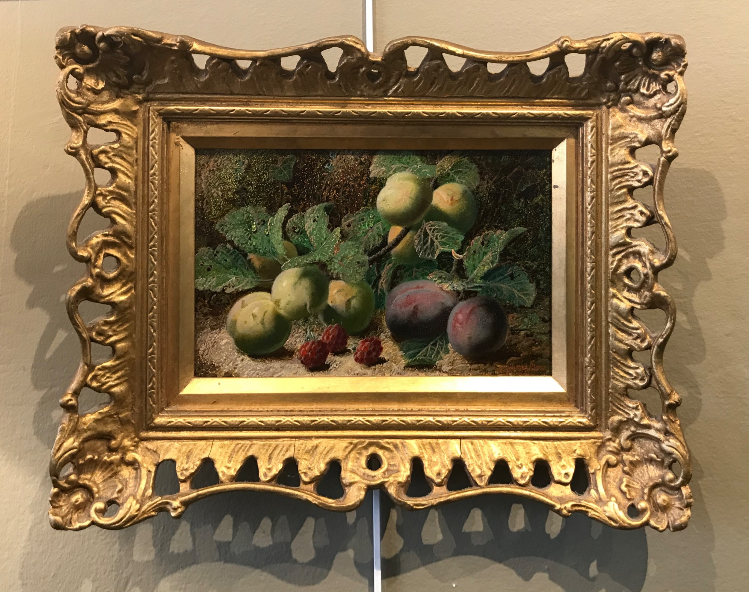 stunning oliver clare still life oil painting
