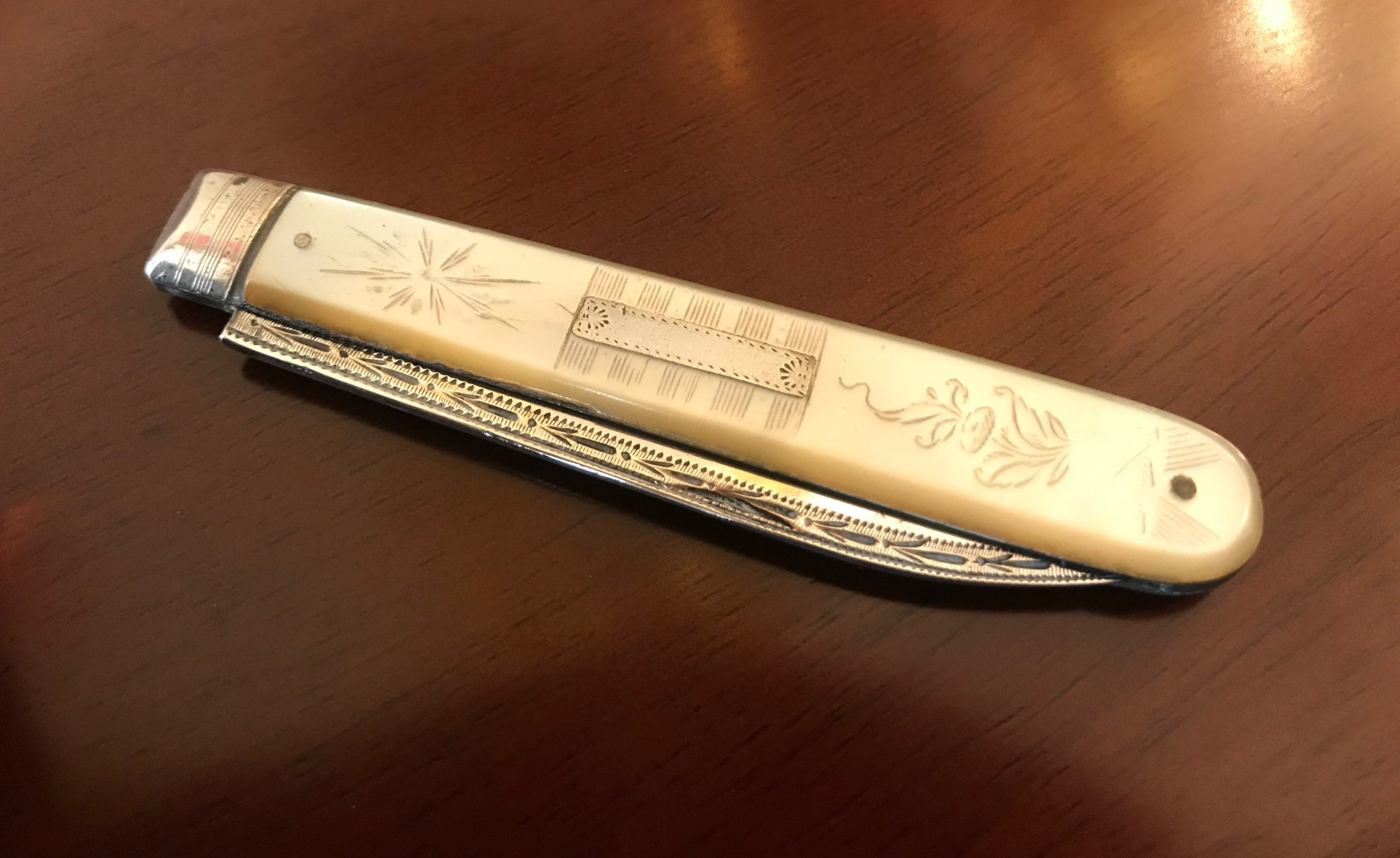 george iii silver and mother of pearl fruit knife 1812