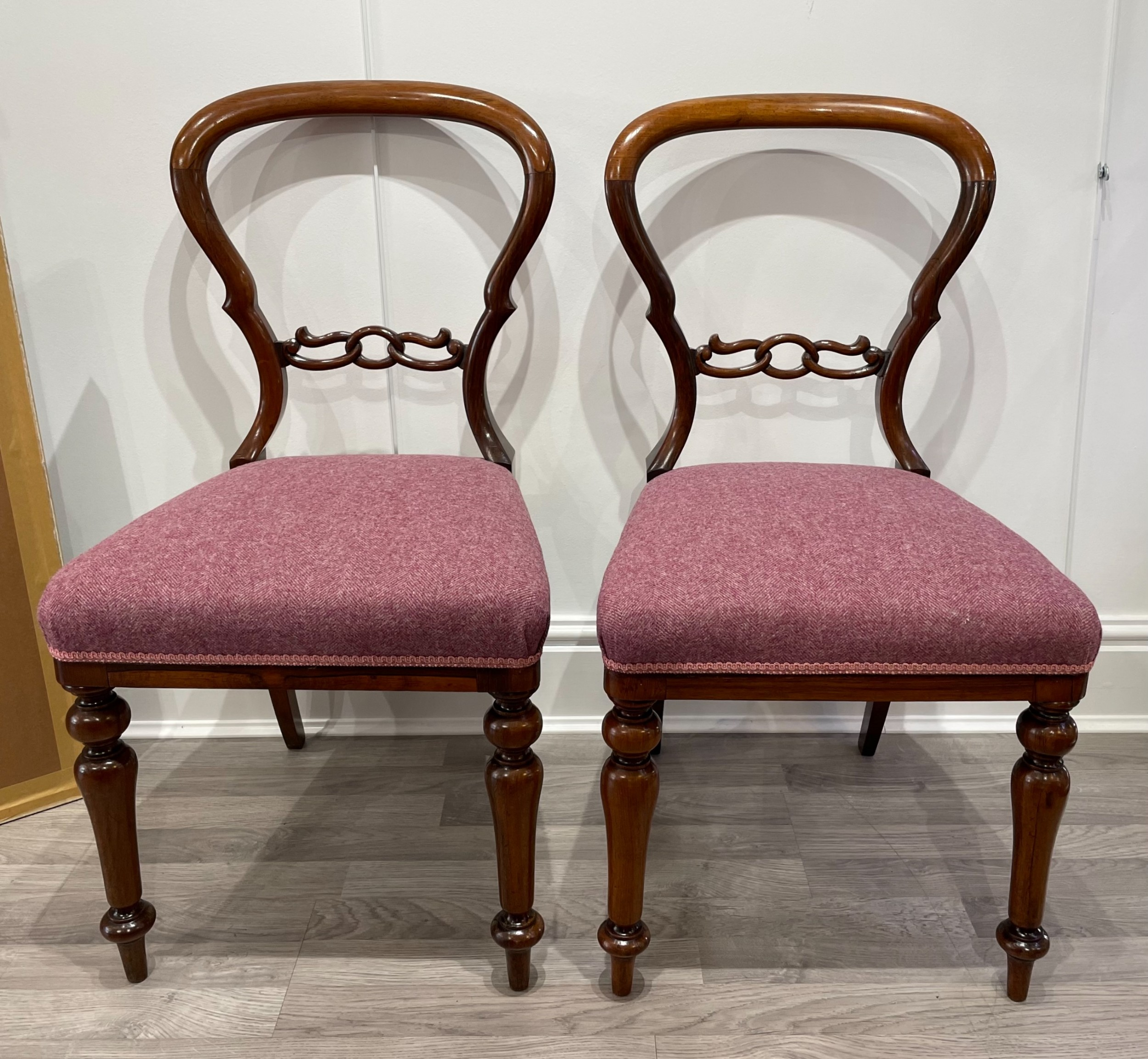 quality pair of victorian rosewood chairs