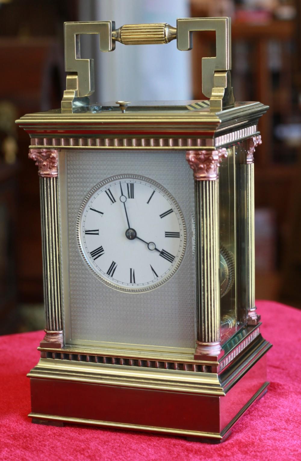 a beautiful silver dial strikerepeat carriage clock