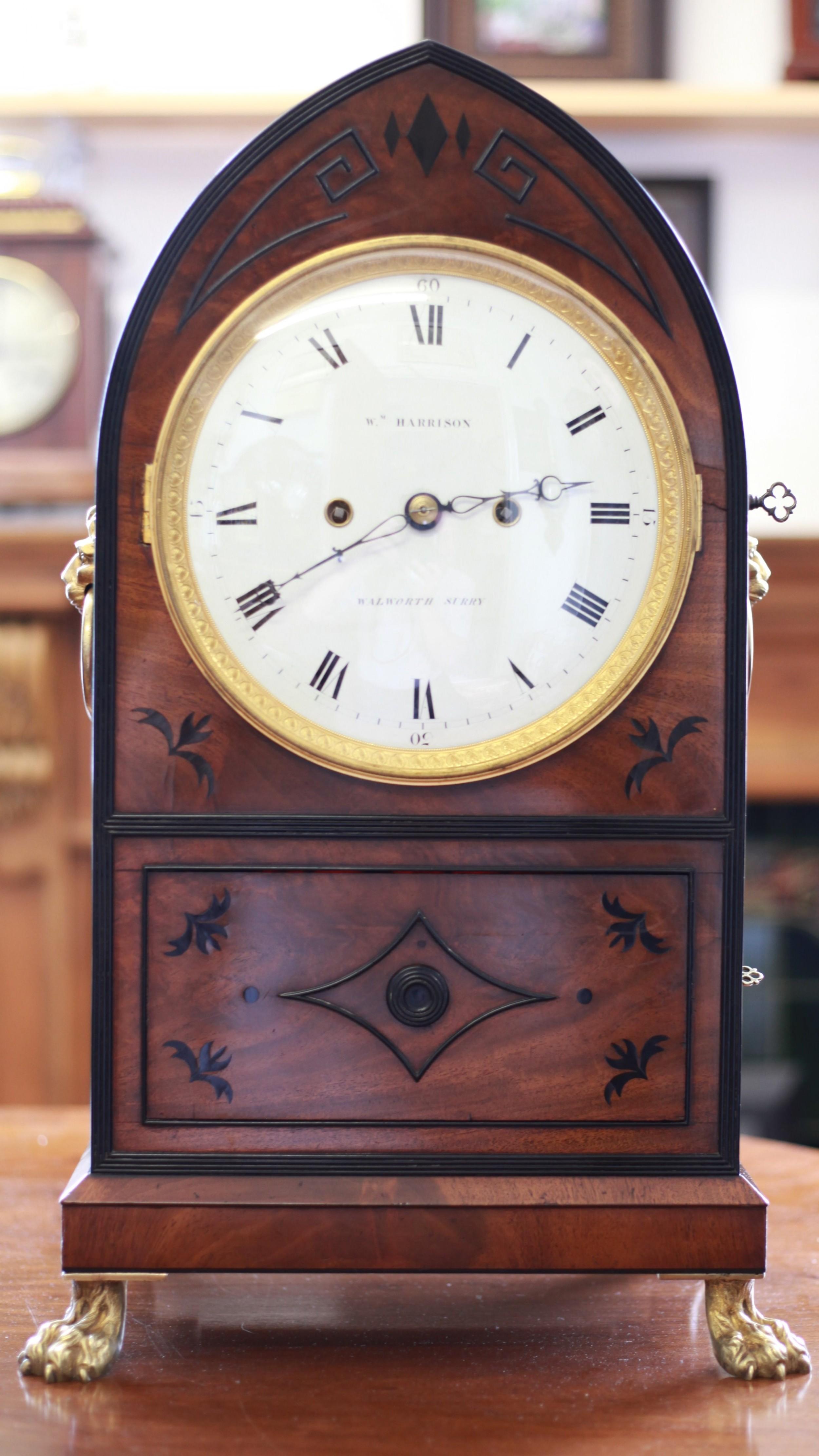 unique mahogany precision table regulator by wm harrison c1800